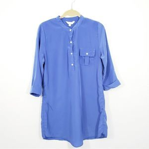 Charming Charlie Blue Tunic Top Size M